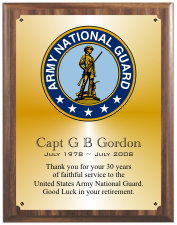 United States Army Plaque Group C Style  from Military & Government Awards.com