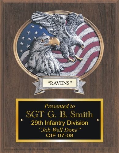 Raised Relief Resin Eagle Plaque