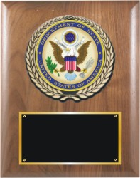 Genuine Walnut Group 'A' Plaque