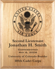 United States Air Force Laser Engraved Plaques from Trophy ...